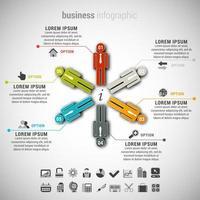 infografica di affari con forme umane
