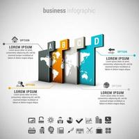 infografica di affari con i passaggi della mappa globale