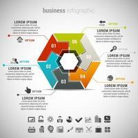 infografica affari esagonale