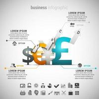 valuta simbolo affari infografica