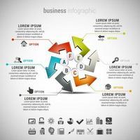 frecce colorate affari infografica