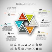 infografica affari triangolare