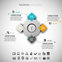 circule e diamanti business creativo infografica