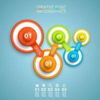connessione circolare 3d colorato infografica