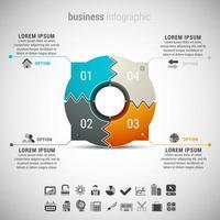 infografica affari bordo circolare appuntito