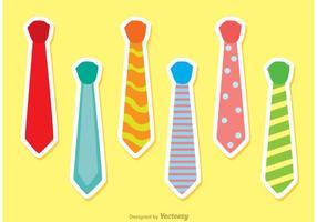 Set di cravatte vettoriale