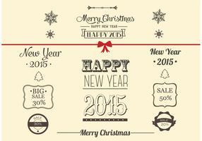 Raccolta di decorazioni natalizie vettoriali gratis