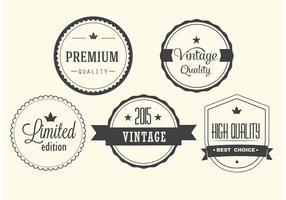 Set di etichette vettoriali vintage gratis
