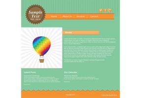 Modello di vettore di pagina Web verde e arancione