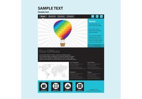 Modello di pagina Web vettoriale