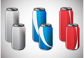 Vettori di Mockup di Soda Can
