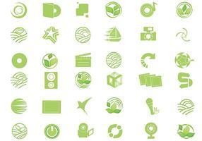 pacchetto di vettore icona eco verde