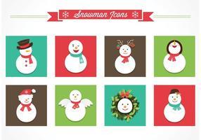 Icone vettoriali gratis pupazzo di neve