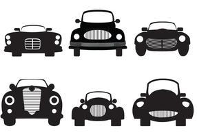 Silhouette di auto d'epoca vettore