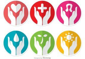 Doppi simboli che aiutano i vettori della mano