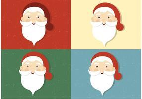 Volti di Babbo Natale vettoriali gratis