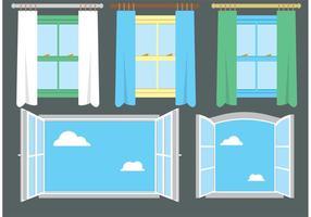 Set di finestre vettoriali gratuito 2