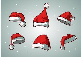 vettore di tappo di Babbo Natale