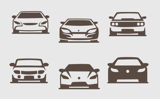 Pack di vettori Silhouette vettoriali di auto sportive