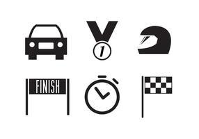 Collezione di icone da corsa