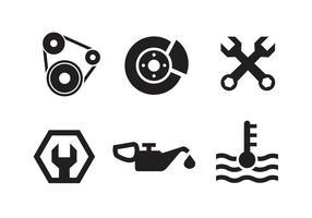 Collezione di icone del motore a pistone vettore
