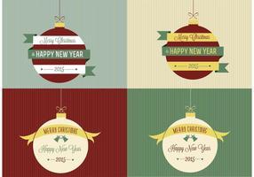 Retro sfondi di ornamento di Natale