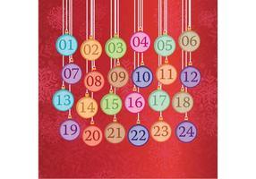 Calendario dell'Avvento con ornamenti natalizi