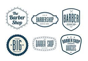 Etichette vintage barbiere vettore