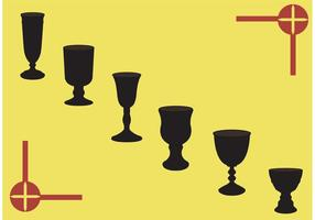 Set vettoriale di calice medievale
