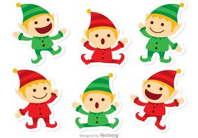 pacchetto di Natale di Babbo Natale elfi vettore
