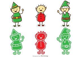 Pacchetto natalizio di Babbo Natale elfi