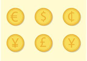 Collezione di monete vettoriali