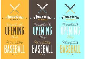 Poster tipografici di baseball vettore