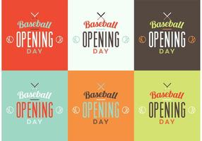 Set logo di apertura di baseball