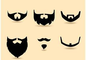 Set barba vettoriale gratis