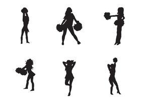 Silhouette vettoriali cheerleader gratis