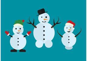 Disegno isolato pupazzo di neve