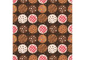 Vettore libero del modello dei biscotti di pepita di cioccolato