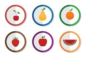 Icone di frutta vettoriali gratis