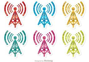 Pacchetto di vettore torre cellulare colorato