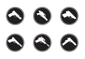 Icone di forme di pistola vettore