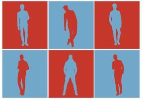 Set di Silhouette vettoriali gratis uomini