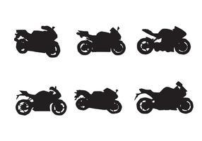 Siluette di vettore del motociclo libero due