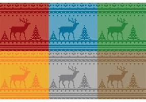 Modelli di maglioni di renne di Natale