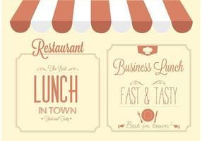 Disegno vettoriale gratuito ristorante segno