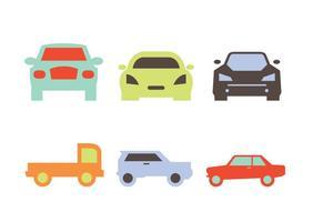 Vettori di sagome di auto davanti