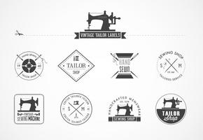 Etichette vettoriali vintage su misura