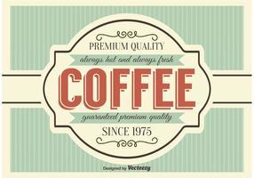 Poster stile retrò caffè