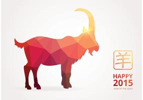 Vector felice cinese 2015 poligonale capra
