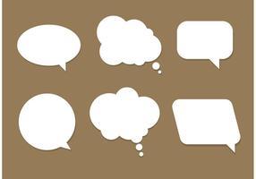 Bolle di discorso vettoriali gratis